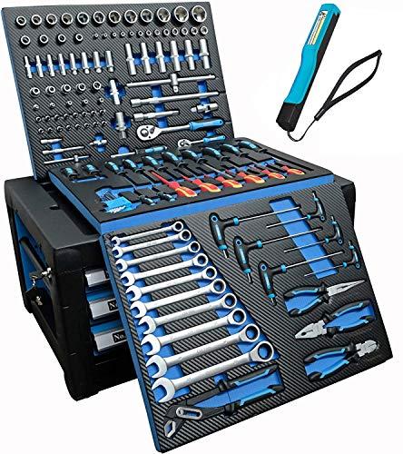 DeTec. Werkstattwagen blue Edition mit Werkzeug