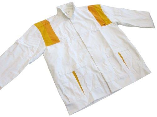 Bundjacke weiß/orange Malerjacke Arbeitsjacke