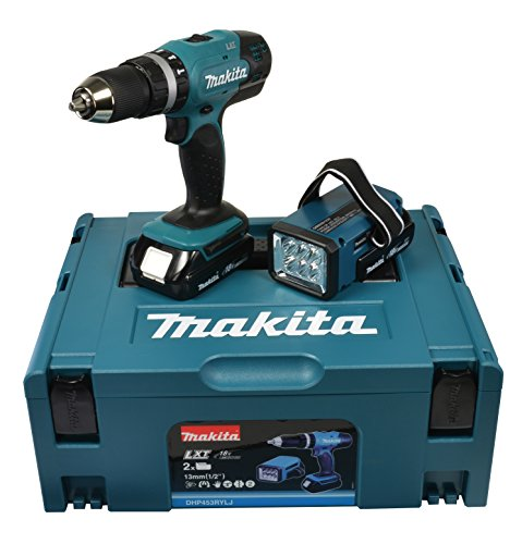 Makita Akku-Schlagbohrschrauber 18 V/1,5 Ah inklusive Akku-Lampe, DHP453RYLJ