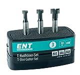 ENT 09003 3-tlg. HW T-Nutfräser-Set optimiert für M5 M6 und M8 Schrauben, HW (HM), Schaft (S) 8 mm - Nuten fräsen für gängige Sechskantschrauben