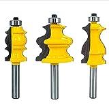 3Stk 8mm Schaft Architectural Moulding Fräser Set Formfräser Bit für Holzbearbeitung Handwerkzeug