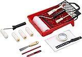 Werkzeyt Renovierungs-Set 17-teilig - Umfangreiche Werkzeuge & Hilfsmittel zum Renovieren & Streichen - Mit Farbwalzen, Pinseln, Farbwanne, Abdeckmaterial & Co /...