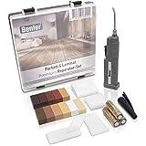 BENLER® NEU! - Holz Reparaturset mit 2in1 Wachsschmelzer für Laminat, Parkett & Vinyl - Reparatur Set, auch für PVC und Kunststoff geeignet - 19-teiliges Laminat...