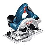 Bosch Professional 18V System Akku Kreissäge GKS 18 V-LI (Schnitttiefe 90°/45°: 51mm/40mm, stufenlose Schnitttiefeneinstellung, ohne Akkus und Ladegerät, im...