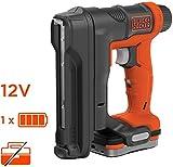 Black+Decker BDCT12S1-QW Tacker, kabellos, Ladegerät mit 80 Klammern, 1840 Klammern in einem Akku, 1 Akku, 100 Klammern 14 mm, Lieferung in Aufbewahrungsbeutel, 12...