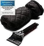 Lyvanas Eiskratzer Auto - VERGLEICHSSIEGER 2020 (Note 1,1)* - Profi Eisschaber trifft auf Premium Eiskratzer Handschuh - top Effizienz kombiniert mit 100% Komfort...