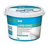 Knauf 4006379067695 Sperrgrund, Spezialgrundierung, hochwirksame Fleckensperre gegen Verfärbungen aus dem Untergrund, gebrauchsfertig, Weiß, 5 kg