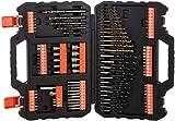 Black+Decker Bohrer- und Schrauberbit-Set (109-teiliges, Metall-, Holz- und Steinbohrer, Stecknüsse, Bits, Senker) A7200