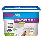 Knauf 4006379080564 EASYFRESH, mineralische, strukturerhaltende Renovierfarbe in schneeweiß, stumpfmatt, hochdeckend und abriebfest, gebrauchfertig,...