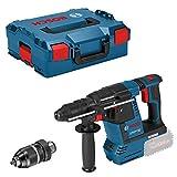 Bosch Professional 18V System Akku Bohrhammer GBH 18V-26 F (ohne Akkus und Ladegerät, inkl. Zusatzhandgriff, Tiefenanschlag, Maschinentuch, Wechselfutter SDS plus,...