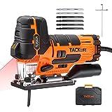 TACKLIFE 800W Professional Stichsäge, Pendelhubstichsäge mit LED und Laserführung, ±45° Gehrungsschnitt, 6 Geschwindigkeitstufe (0-3100SPM), 6 Sägeblätter, im...