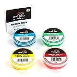 Meglio Therapieknete – Extra-weich 53g, Weich 57g, Medium 57g, Fest 57g – separat oder als 4er Set verkauft