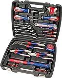 kwb 370733 Werkzeug-Koffer inkl. Schrauber-Bits, 42-teilig, gefüllt, robust und hochwertig, ideal für den Haushalt o. die Garage, GS geprüft, im praktischen...