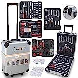 hanSe® Werkzeugkoffer Maxi 1050-teilig Werkzeug Trolley gefüllt Werkzeugkasten Werkzeugkiste Heimwerker Werkzeugset
