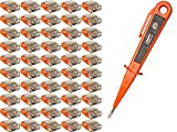 H+H Werkzeug SKK50 50 Set 3-polig + 1 x Spannungsprüfer/Phasenprüfer 45300 VDE (Verbindungsklemme Steckklemme Steckverbinder Verbindungsdosenklemme), orange,...