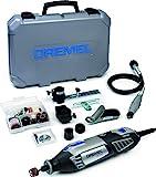 Dremel Platin Edition 4000 Multifunktionswerkzeug 175W, Set mit 4 Vorsatzgeräten, 65 Zubehörteilen, Variable Drehzahl 5.000-35.000 U/min zum Schneiden, Schnitzen,...