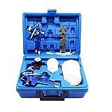 ROIIKETU 2 HVLP Lackierpistole Spritzpistole 0,8 mm 1,4 mm Düsen - Profi Sprühpistole Kit für die Deckbeschichtung von Premium-Autos und Möbeln