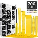 Befestigungsclips Auto + Auto Demontage Werkzeuge Set von SCHMITZ.Tools [700 Teile] Hebelwerkzeug Auto - Kfz Werkzeug - Auto Zubehör Innenraum - Auto Clips - Klips...