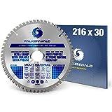FALKENWALD ® Kreissägeblatt 216x30 mm ideal für Holz, Metall & Alu - Sägeblatt 216x30 kompatibel mit Bosch GTS 635-216 & Metabo KGS 216 M - 216 Sägeblatt - 216...