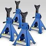 BITUXX® 4 x Unterstellböcke Auto PKW Abstellbock Stützbock Unterstellbock Wagenheber Stützen 3000 kg 3t 6000 Kg 6t