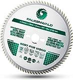 FALKENWALD ® Sägeblatt 254x30 für Holz - 254x30 Kreissägeblatt mit 80 HM Zähnen - Kompatibel mit Bosch GTS 10 XC, PTS 10 Tischkreissäge & Metabo Kappsäge KGS...