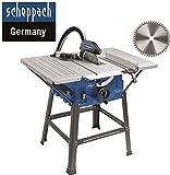 Scheppach HS 100 S Sonderedition Tischkreissäge – Kreissäge mit Feinschnitt Sägeblatt (2000 W, Sägeblatt Ø 250 x Ø 30 mm, max. Schnitthöhe 85 mm,...