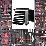 Werkzeugwagen Werkstattwagen mit 8 Schubladen davon 7 mit Werkzeug wie Schraubenschlüssel, Ratsche mit Nusskasten, Schraubendreher usw. in Soft Inlays in...