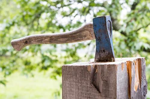 Die Axt als bekanntester Holzspalter